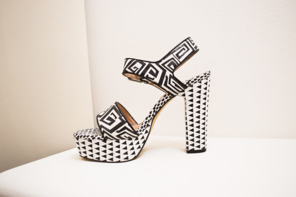 Sandaletten mit breitem Absatz